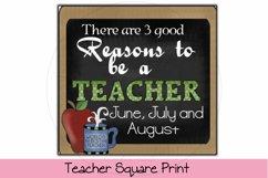 Teacher Square Print Product Image 1