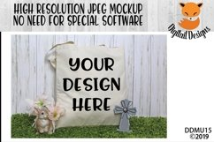 Easter Tote Treat Bag Mock Up Mockup Product Image 1
