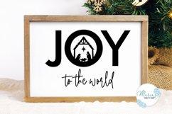 Joy SVG, Joy to the World SVG, Nativity SVG, Manger SVG Product Image 3