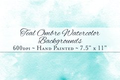 Teal Ombre Watercolor Backgrounds Product Image 1