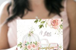 Drive By Baby Shower Invitation Pumpkin Pink Gold autumn Product Image 2