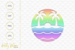 Palm Trees & Sunshine SVG Product Image 2