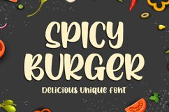 Spicy Burger - Delicious Unique Font Product Image 1