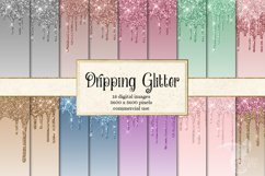 Dripping Glitter Digital Paper Product Image 1