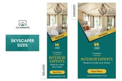Real Estate | Interior Designer Banner Ad Template - RE001 Product Image 3