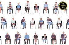 Seamless pattern of people Product Image 1
