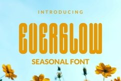 Web Font Everglow Font Product Image 1
