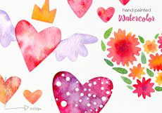 Watercolor Hearts Clipart - PNG Files Product Image 3
