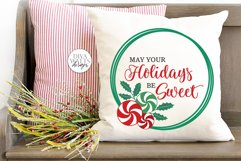 May Your Holidays Be Sweet SVG | Christmas / Winter Peppermi Product Image 2