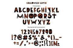 Halloween color font Product Image 2