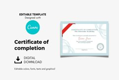Classic Certificate of Completion Editable Canva Template. Product Image 3