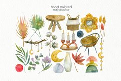 Watercolor Boho Clipart - PNG Files Product Image 2