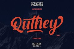 Quthey Casual Script Product Image 5