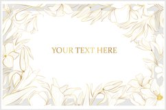 Vector banner with gold flowers Product Image 3