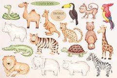 "Watercolor Clipart ""Safari Animals"" Product Image 2"