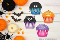 Cute Halloween Cupcake Stickers Product Image 3