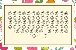 Apple Fruit Font Product Image 2