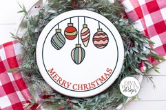 Merry Christmas Vintage Ornaments SVG | Round Sign Design Product Image 2
