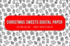 Pattern of Ginger Cookies | Christmas seamless pattern Product Image 1