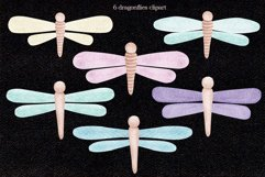 """Watercolor ClipArt """"Dragonflies"""" Product Image 2"""