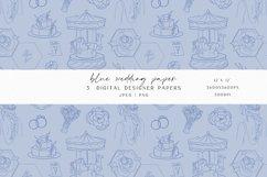 Blue Wedding Digital Paper Product Image 3