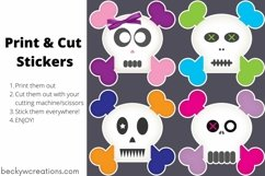 Cute Skull Boy/Girl Stickers Product Image 2