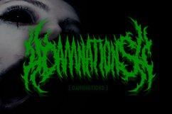 SUICIDE brutal death metal font #2 Product Image 2