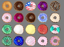 Watercolor Doughnuts Graphics - Donut Bakery Clipart Png Product Image 2