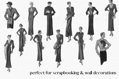 Vintage Fashion Clipart, 1920s Clipart, Cardmaking Product Image 2