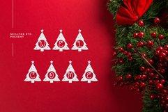 Christmas tree monogram split letter Product Image 5