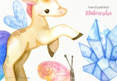 Watercolor Unicorn Clipart - PNG Files Product Image 3