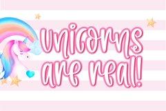 Unicorn Milkshake-A cute handwritten font Product Image 2