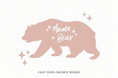 Mama bear svg, Mommy bear svg, Bear family svg, Mom life svg Product Image 2