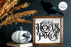 It's All A Bunch Of Hocus Pocus SVG | Halloween Word Art Product Image 4