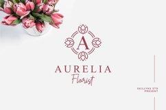 Tulip Monogram split letter font Product Image 4