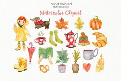 Watercolor Autumn Clipart - PNG Files Product Image 2