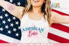 4th July American Babe Patriotic Svg Product Image 1