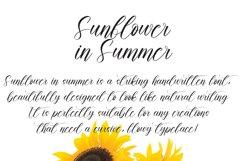 Sunflower In Summer | handwritten font Product Image 3