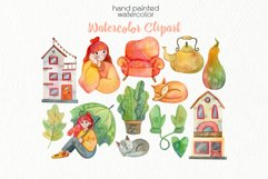 Watercolor Autumn Clipart - PNG Files Product Image 3