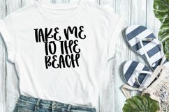 Web Font Beach Babe - A Quirky Handlettered Font Product Image 2
