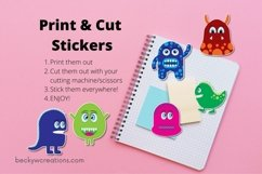 Googly Eyed Little Monsters Stickers Product Image 2