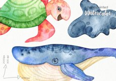 Watercolor Underwater Clipart - PNG Files Product Image 5
