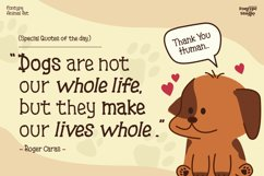 Fontype Animal Pet - Display Font Product Image 2