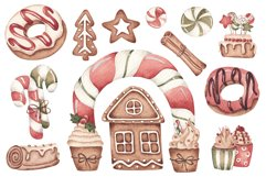 """Watercolor Set """"Christmas Bakery"""" Product Image 2"""
