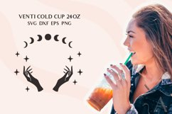 Venti Cold Cup svg, Celestial svg, Zodiac svg, Witch hands Product Image 2