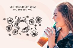 Venti Cold Cup full wrap svg, Sunflower svg, Boho Daisy svg Product Image 2