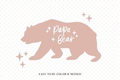 Papa bear svg, Fathers day svg, Bear family svg, Modern svg Product Image 2