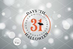 Days 'Til Halloween SVG   Round Fall Sign   DXF and More Product Image 2