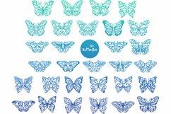 60 Butterfly SVG cut files - simple & split monogram Product Image 2