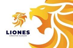 Gradient Fire Lion Modern Logo Product Image 2